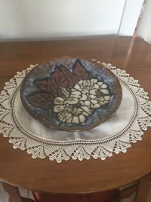 vintage crochet edging small tableclth