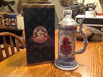 Anheuser Busch Beer Stein Collectors Club CB23 With Box Evolution Eagle 2002