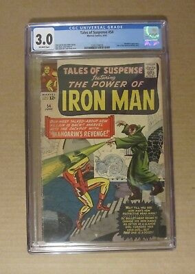 Tales of Suspense #54 (1964) CGC 3.0...Mandarin app..Watcher also...Kirby cover
