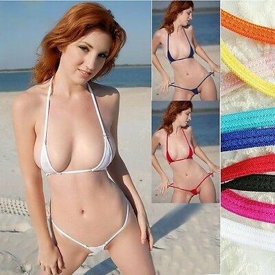 Maillot bain mini micro bikini ultra sexy thiny transparent exhib