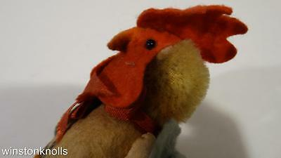 """RARE TERRIFIC 1940's DRESSED ROOSTER 12CM 5"""" MADE IN TCHECOSLOVAQUIE"""