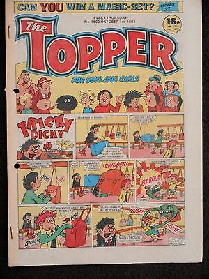 The Topper Comic 1st October 1983  (Issue 1600)