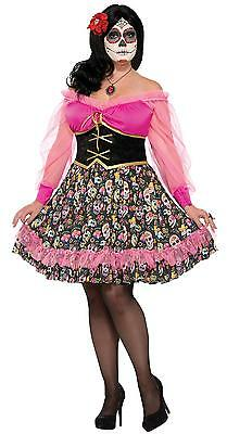 Womens Lady Mexicos Day Of The Dead Skeleton Festival Costume Plus Size Fm76072