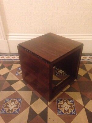 Kai kristiansen Danish rosewood magic cube nest of tables mid century modernist