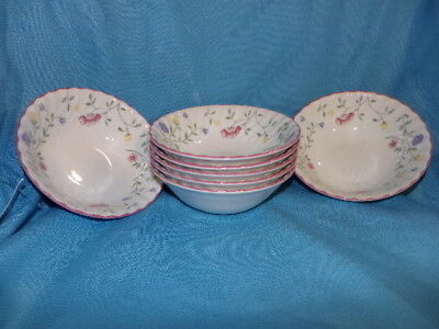Johnson Brothers Set 7 Summer Chintz Design Coupe Cereal Bowl Made in England