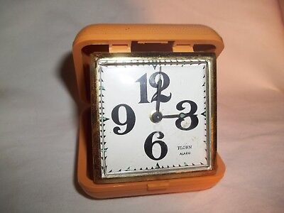 Vintage Florn Travel Alarm Clock Germany