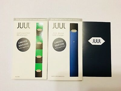 Juul-Device Basic Kit Navy Blue Combo With 1 Package Pods 100% Authentic!