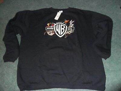 NWT Vintage Warner Brothers Store Adult Sweat Shirt Size Large Bugs Daffy Taz