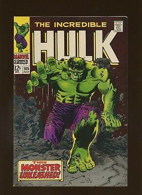 Incredible Hulk 105 FN/VF 7.0 * 1 Book Lot * Monster Unleashed! Everett Severin!