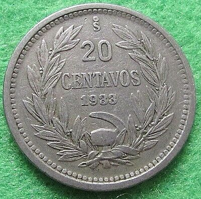 1933 Chile 20 Centavos Coin - Lot R1