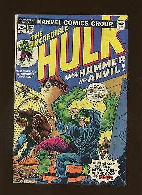 Incredible Hulk 182 FN/VF 7.0 *1 Book* 2nd Full Wolverine! Includes Value Stamp!