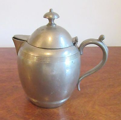 Antique/Vintage Rodgers Solid Pewter Pitcher 1156 With Hinged Lid