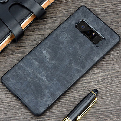 For Samsung Galaxy Note 8 S9 S8+ Luxury Leather Thin Slim Hard Skin Case Cover