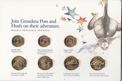 2017 possum magic coin collection- $2 x3 $1 x 4 and 1 cent coin Full Set