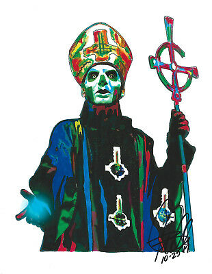 Papa Emeritus III, Ghost, Vocals, Heavy Metal, Doom Metal, 8.5x11 PRINT w/COA