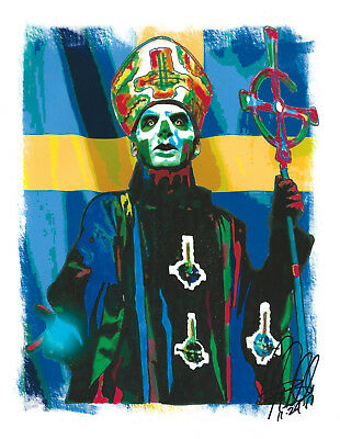 Papa Emeritus III, Ghost, Vocals, Heavy Metal, Doom Metal, 8.5x11 PRINT w/COA 1