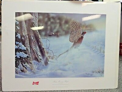 Budweiser Ducks Unlimited Print of the Year  Misty Morning Flight Mark Bordignon