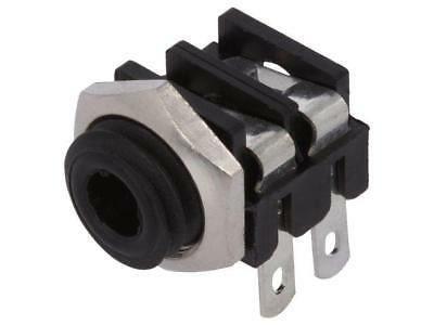 4x CL1362 Socket Jack 3,5mm female mono angled 90° for panel mounting  CLIFF