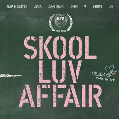 BTS [SKOOL LUV AFFAIR] 2nd Mini Album CD+115p Photo Book+Photo Card K-POP SEALED