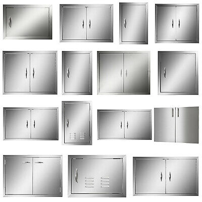 "New 30"" Outdoor Kitchen / Bbq Island Stainless Steel Double Access Door Usa"