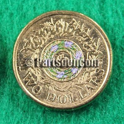 1 x 2017 $2 two dollar coin coloured Remembrance Day coins unc cut from RAM bag