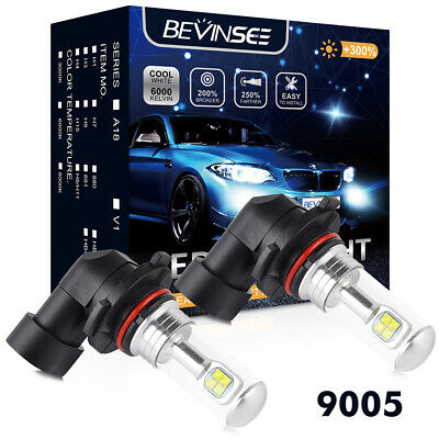 9005 HB3 LED Headlight Bulbs 80W Cree For Can-Am Commander Outlander Renegade
