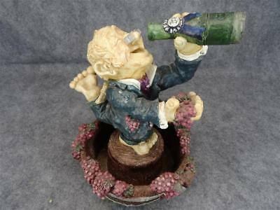 """Vintage Ceramic Water Fountain """"Old Gent And His Bottle"""" Water Out Of Bottle"""