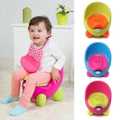 Removable Cartoon Baby Potty Toilet Chair Seat Toddler Children Kid Training AU
