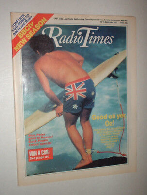EAST 12/9 1987 RADIO TIMES magazine TELEVISION SURF BOARD SURFING AUSTRALIA