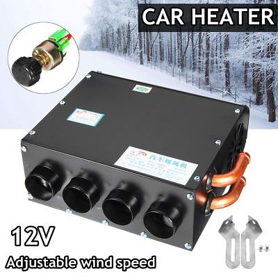 Adjustable 12V 4-holes Car Truck Fan Heater Defroster Demister Heating Warmer