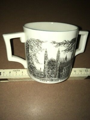 Vintage Crested China - W H Goss - loving cup,Kings & Trinity Colleges Cambridge