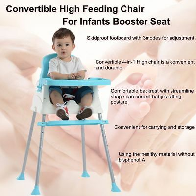 Adjustable Baby Highchair Portable Feeding Table Seat Childcare Eating Chair