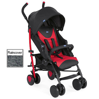 New Chicco Scarlet Echo Pushchair Umbrella Stroller Baby Buggy With Raincover