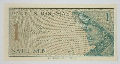 Indonesia 1 sen UNC, 'new rupiah' series 1965, serial number ADL 062663
