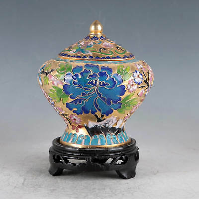 Chinese Cloisonne Hand-made Flowers&Tree Pot JTL1022