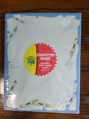 "TEACHING TREE computer paper 45 sheets for laser & ink jet printers  8 ½"" x 11"""