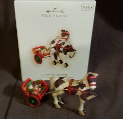Hallmark A Pony For Christmas #10 Series 2007 Christmas Keepsake Ornaments