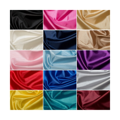 Plain Habotai Silk Lining Coloured Fabric Polyester 145cm Wide