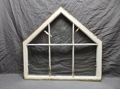 Antique 6 Lite Arched Top Peaked Window Sash 31x34 Gothic Old Vtg Chic 161-18P