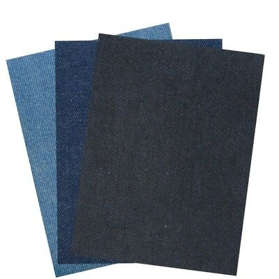 2 x Nortexx Iron On Denim Repair Patch Mending  3 Colours