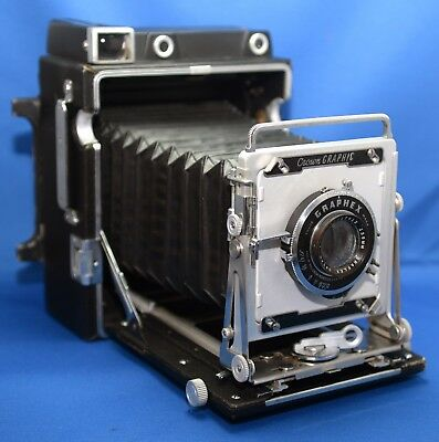 GRAFLEX Crown Graphic  4X5 VINTAGE Camera Wollensak Optar f/4.7 135mm Lens USA