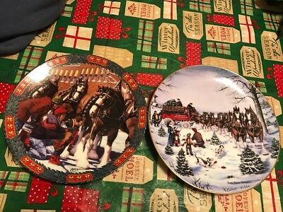 1994 Budweiser Hometown Holiday And Seasons Best 1991 Christmas Collectors Plate