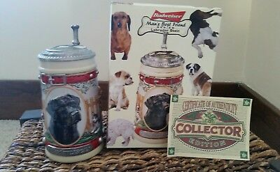 Budweiser Man's Best Friend Series Labrador Stein First In A Series CS379