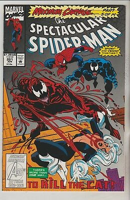 *** Marvel Comics Spectacular Spider-Man #201 Vf ***