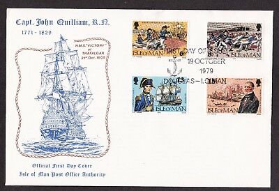 First Day Cover  Isle of Man 1979 Capt. John Quilliam