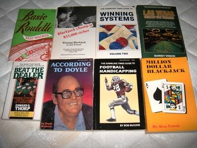 (8) Vintage Gaambling Books  (Blackjack, Roulette, Sports, Etc.)
