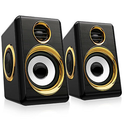 Multimedia USB Speaker System Computer TV Laptop Desktop Speakers Plug and Play