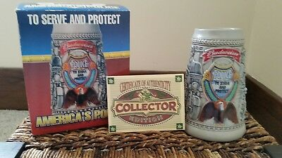 """Budweiser """"To Serve and Protect"""" America's Police Stein ~ New In Box"""