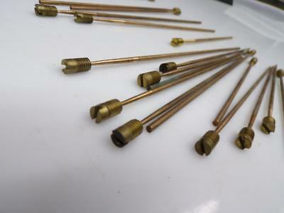 Lot 19 Vintage Mantle Westminster Clock Brass Gong Sounding Rods Screw-In D261a