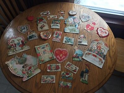 Lot of 29 Antique Vintage Valentine Greeting Cards Free Shipping